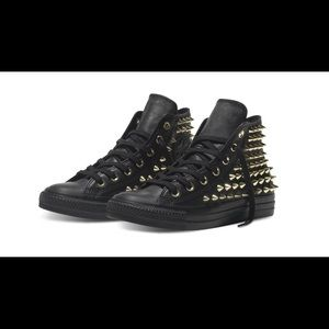 Converse Punk Edition Women's size 6 Gold Spikes